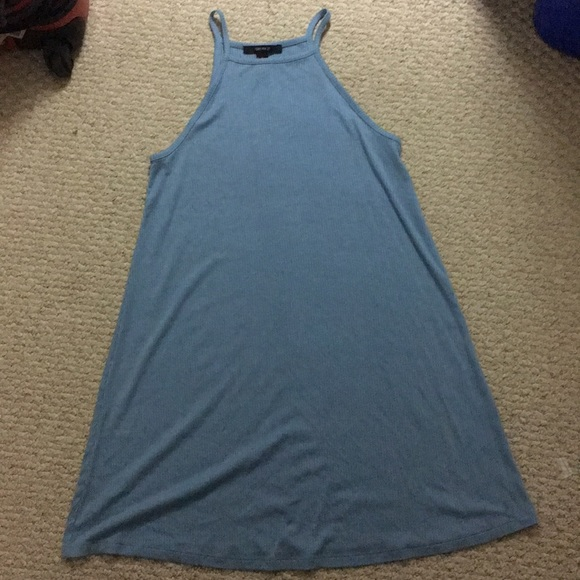 Forever 21 Dresses & Skirts - F21 Light Blue Halter Neck Trapeze Flowy Dress